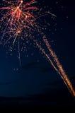 Fyrverkerier på en natthimmel Royaltyfria Foton