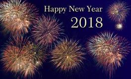 Fyrverkerier på silvester och nya år helgdagsafton 2018 Royaltyfri Fotografi