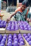 Fyrverkerier som gör i Indien Arkivfoton