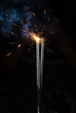 fyrverkerier som sparkling Arkivfoton