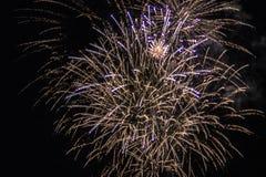 Fyrverkerier tänder upp himlen Royaltyfri Foto