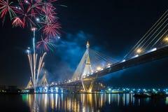 fyrverkerier thailand Fotografering för Bildbyråer