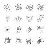 Fyrverkerilinje symbolsuppsättning 8, vektor eps10 Royaltyfri Bild