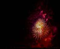 Fyrverkerishow/Guy Fawkes Night Royaltyfri Foto