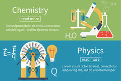 Fysica, chemievector Royalty-vrije Stock Fotografie