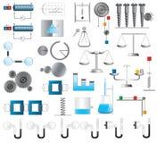 Fysica en Chemieillustraties Stock Fotografie