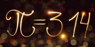 Fysica, freezelight, bokeh, pi, 3 14, Meetkunde, wiskunde, wetenschap Stock Fotografie