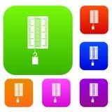 Fysicadynamometer voor vastgestelde de kleureninzameling van het laboratoriumwerk Royalty-vrije Stock Foto's