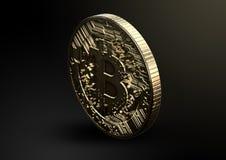 Fysieke Bitcoin Royalty-vrije Stock Afbeeldingen