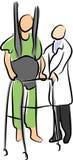 Fysieke Rehabilitatie royalty-vrije illustratie