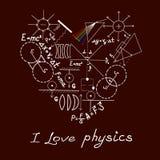 Fysikklotter på skola kvadrerat papper Arkivfoton