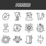 Fysiksymbolsuppsättning Arkivfoto