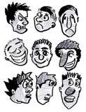 Fysionomie en persoon en glimlach en mensen, Stock Afbeeldingen