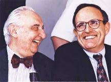 Fyvush Finkel und Rudy Giuliani Lizenzfreies Stockbild
