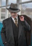 Gángster con una expresión facial presumida Fotografía de archivo libre de regalías