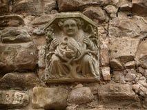Gárgola en las paredes de la abadía Nottingham de Rufford cerca del bosque de sherwood Reino Unido Fotos de archivo