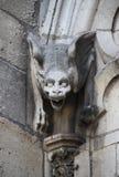 Gárgola en Notre Dame Cathedral en París Fotos de archivo