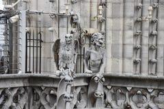 Gárgola que pasa por alto París, Francia Fotografía de archivo