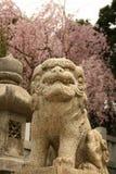 Gárgula do demônio em Japão imagens de stock