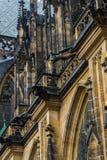 Gárgula na catedral metropolitana de Saint Vitus Wenceslaus Foto de Stock Royalty Free