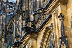 Gárgula na catedral metropolitana de Saint Vitus Wenceslaus Imagem de Stock Royalty Free