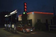 Gás da leitura do sinal de néon Imagens de Stock Royalty Free