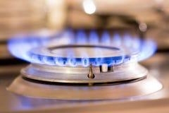 Gás do fogão Foto de Stock