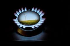 Gás e eletricidade Foto de Stock Royalty Free