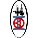 Gás industry-2 do ícone ilustração royalty free