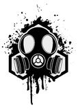 Gás mask ilustração royalty free