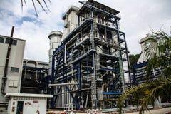 Gás natural central elétrica bonde ateado fogo Fotos de Stock