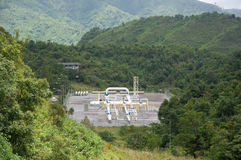 Gás natural de transferência do lugar e da tubulação Imagens de Stock Royalty Free