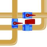 Gás pipes-2 Imagem de Stock