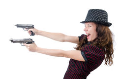 Gângster da jovem mulher Fotos de Stock