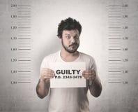 Gângster travado na cadeia fotos de stock royalty free