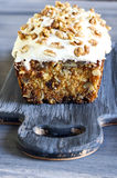Gâteau à la carotte Image libre de droits