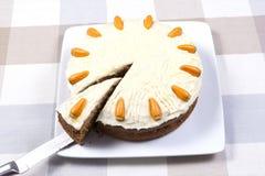 Gâteau à la carotte Images stock