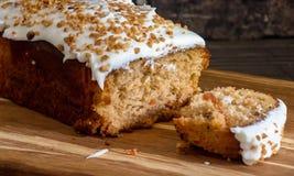 Gâteau à la carotte Photographie stock