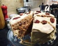 Gâteau à la carotte Image stock