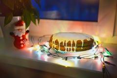 Gâteau à la carotte Photographie stock libre de droits