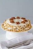 Gâteau à la carotte avec des noix Images stock