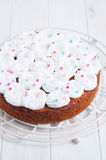 Gâteau à la carotte de célébration Photos stock