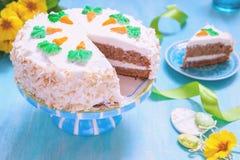 Gâteau à la carotte de Pâques photographie stock