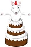 Gâteau anglais de bull-terrier image stock
