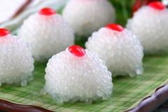 Gâteau asiatique de cerise de perle de nourriture Photos stock