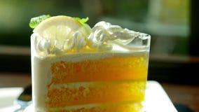 gâteau assaisonné par citron avec un goût doux et aigre parfaitement photographie stock libre de droits