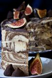 Gâteau au café illustration de vecteur