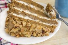 Gâteau au café Images stock