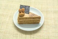 Gâteau au café, crème à café Image libre de droits