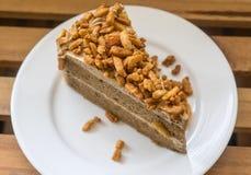 Gâteau au café d'amande Photos stock